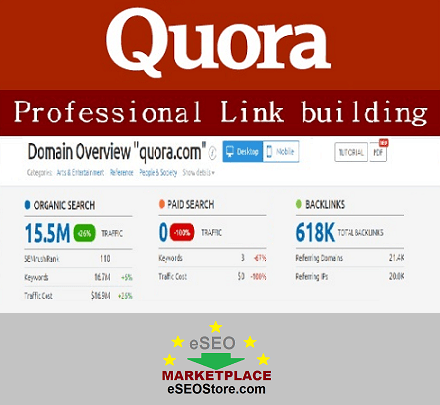 Quora answer backlinks