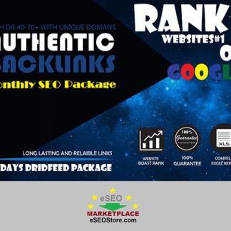 monthly seo package