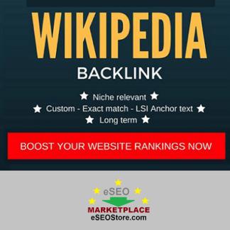 Buy wikipedia backlink